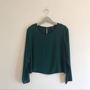Forever 21 | Emerald Green Flowy Blouse